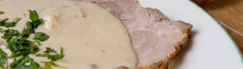 ARROSTO DI MAILE AL FUNGHI PORCINI_CARNES Muerde la Pasta